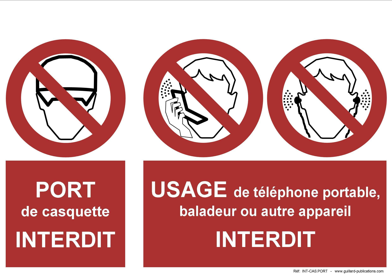 signal d 39 interdiction de port de casquette et usage de telephone. Black Bedroom Furniture Sets. Home Design Ideas
