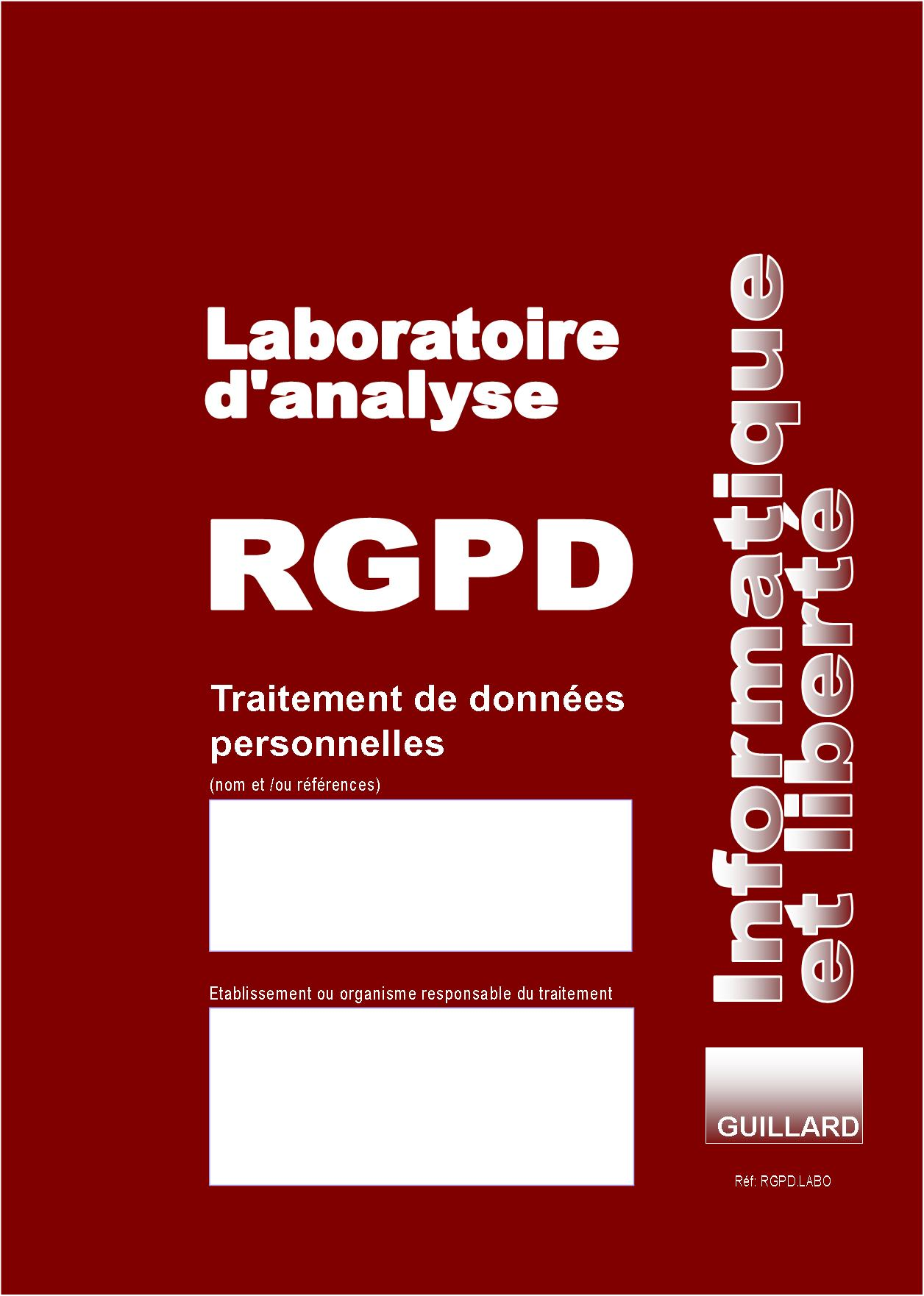 Registre RGPD LABORATOIRE D'ANALYSES de TRAITEMENT DES DONNEES PERSONNELLES - RGPD.LABO